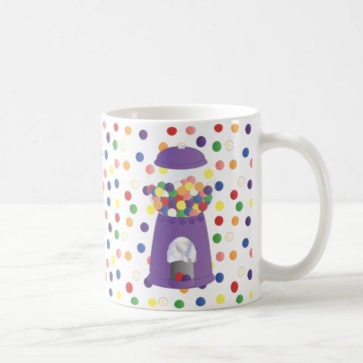 Purple Gumball Machine Basic White Mug