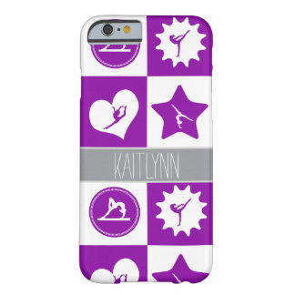 Purple Gymnastics 4 Squares Personalized Case Barely There iPhone 6 Case