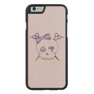 Purple Hair Accessory Skull -Scissor Crossbones #2 Carved® Maple iPhone 6 Slim Case