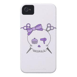 Purple Hair Accessory Skull -Scissor Crossbones #2 Case-Mate iPhone 4 Cases