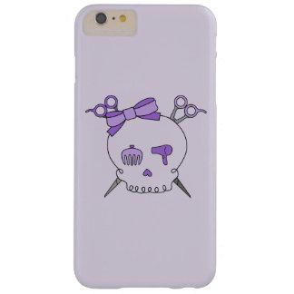 Purple Hair Accessory Skull -Scissor Crossbones #2 Barely There iPhone 6 Plus Case