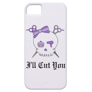 Purple Hair Accessory Skull -Scissor Crossbones #2 iPhone 5 Cases