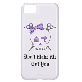 Purple Hair Accessory Skull -Scissor Crossbones #2 iPhone 5C Cases