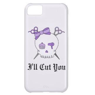 Purple Hair Accessory Skull -Scissor Crossbones #2 iPhone 5C Case