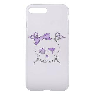 Purple Hair Accessory Skull -Scissor Crossbones #2 iPhone 7 Plus Case