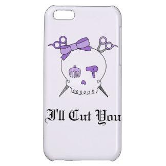 Purple Hair Accessory Skull -Scissor Crossbones 2 Cover For iPhone 5C