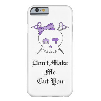 Purple Hair Accessory Skull -Scissor Crossbones #3 Barely There iPhone 6 Case