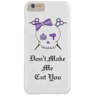 Purple Hair Accessory Skull -Scissor Crossbones #3 Barely There iPhone 6 Plus Case