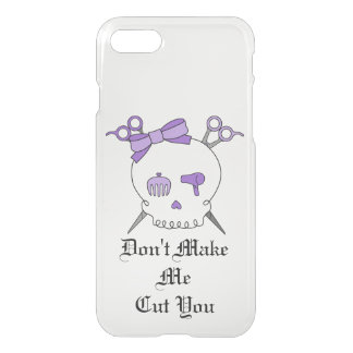 Purple Hair Accessory Skull -Scissor Crossbones #3 iPhone 7 Case