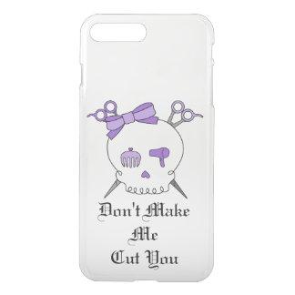 Purple Hair Accessory Skull -Scissor Crossbones #3 iPhone 7 Plus Case