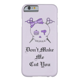 Purple Hair Accessory Skull -Scissor Crossbones #4 Barely There iPhone 6 Case