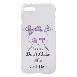 Purple Hair Accessory Skull -Scissor Crossbones #4 iPhone 7 Case