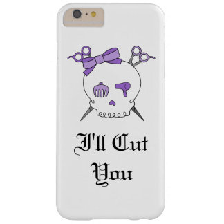 Purple Hair Accessory Skull -Scissor Crossbones #5 Barely There iPhone 6 Plus Case