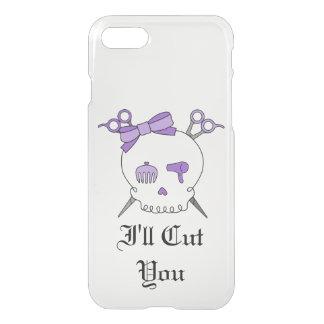 Purple Hair Accessory Skull -Scissor Crossbones #5 iPhone 7 Case