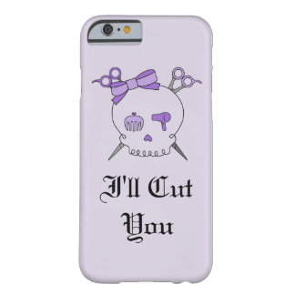 Purple Hair Accessory Skull -Scissor Crossbones #6 Barely There iPhone 6 Case