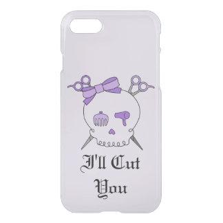 Purple Hair Accessory Skull -Scissor Crossbones #6 iPhone 7 Case