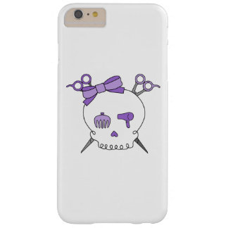 Purple Hair Accessory Skull -Scissor Crossbones Barely There iPhone 6 Plus Case