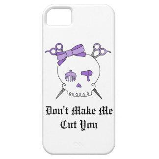 Purple Hair Accessory Skull -Scissor Crossbones iPhone 5 Cases