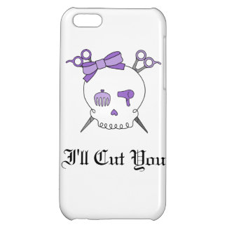 Purple Hair Accessory Skull -Scissor Crossbones iPhone 5C Case