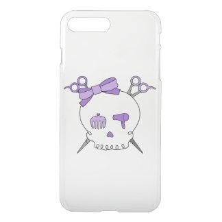 Purple Hair Accessory Skull -Scissor Crossbones iPhone 7 Plus Case