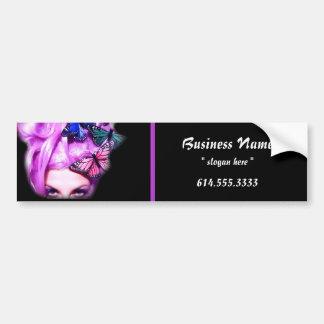 Purple Hair Butterfly Lady Bumper Sticker