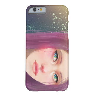 Purple hair Girl Barely There iPhone 6 Case