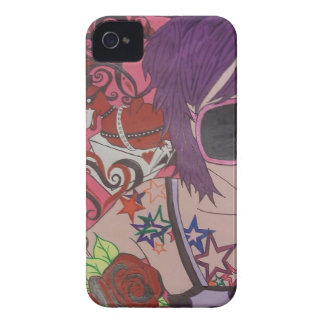 Purple Hair Girl iPhone 4 Cases