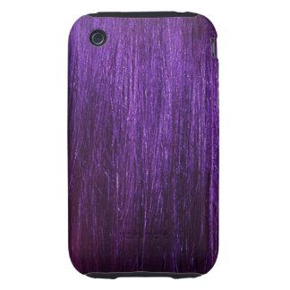 Purple Hair Texture iPhone 3 Tough Cases