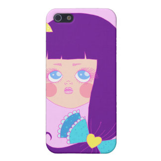 Purple haired girl case for iPhone 5