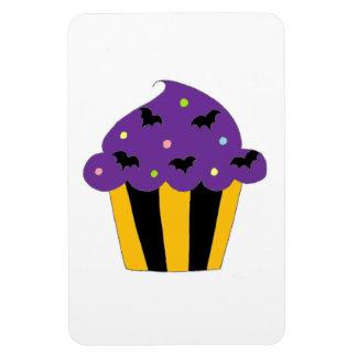 Purple Halloween Bats Cupcake Magnet