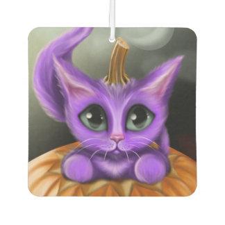 Purple Halloween Kitty Square