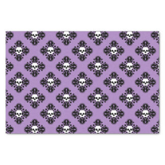 Purple Halloween skull pattern Tissue Paper