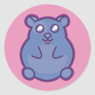 Purple Hamster Classic Round Sticker