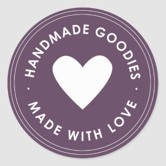 Purple Handmade Goodies Sticker