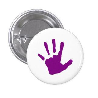 Purple Handprint 3 Cm Round Badge