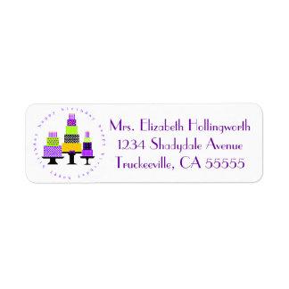 Purple Happy Birthday Cakes-