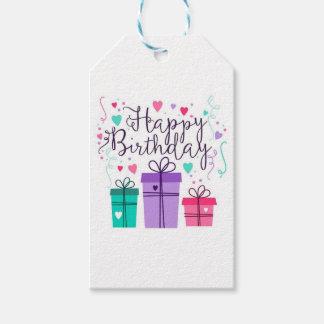 Purple Happy Birthday Tag