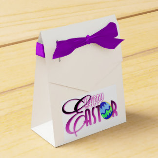 Purple Happy Easter Egg Favour Box
