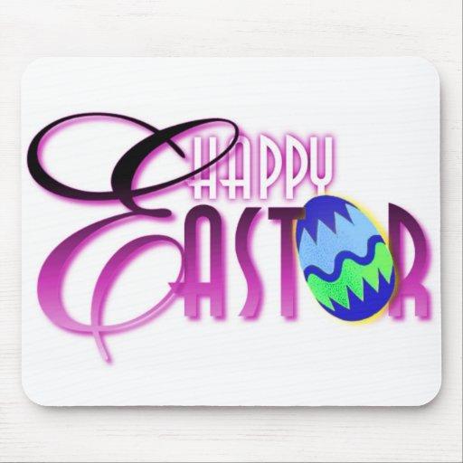 Purple Happy Easter Egg Mousepads