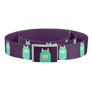 Purple Happy Emoji Llama Belt