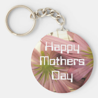 Purple Happy Mothers Day Basic Round Button Key Ring