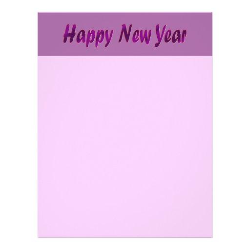 purple happy new year flyer