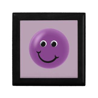 Purple Happy Smiley Small Square Gift Box