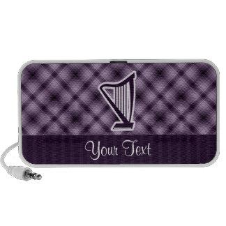 Purple Harp Notebook Speakers