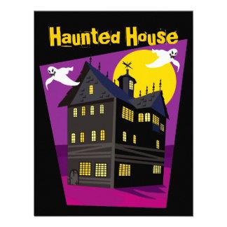 Purple Haunted House Invitations