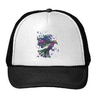 Purple Hawk Paint Splatter Watercolour Bird Design Cap