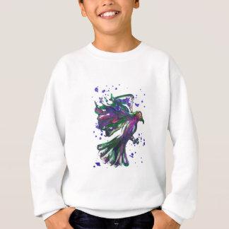 Purple Hawk Paint Splatter Watercolour Bird Design Sweatshirt