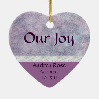 Purple Haze Adoption Heart Christmas Ornaments