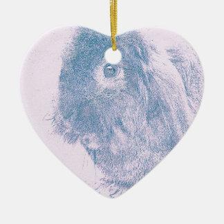 Purple haze rabbit ceramic heart decoration