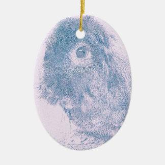 Purple haze rabbit christmas ornament